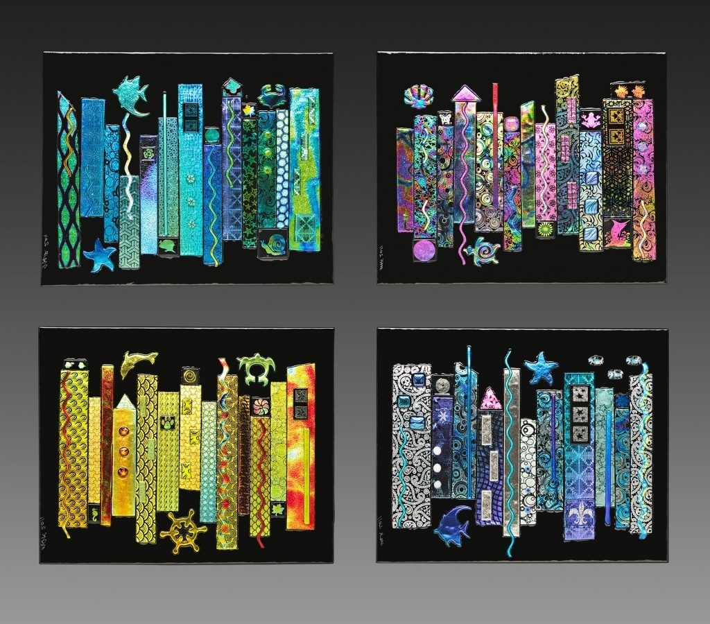 Most Current Kiln Fused Glass Wall Art In Innovation Fused Glass Wall Art With For Sale Jazz Seasons (View 11 of 15)