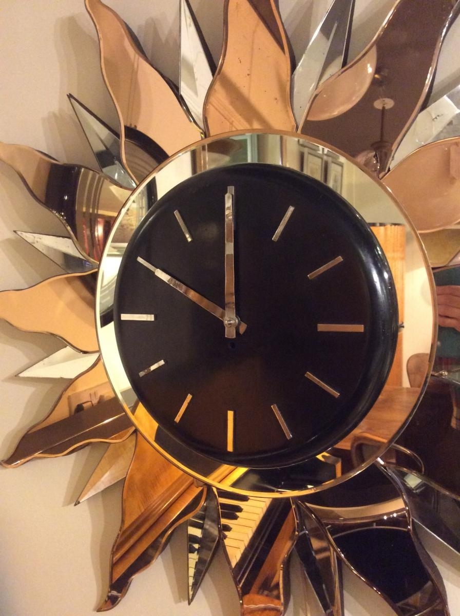 Most Current Large Art Deco Wall Clock, 1930S For Sale At Pamono In Large Art Deco Wall Clocks (View 13 of 15)
