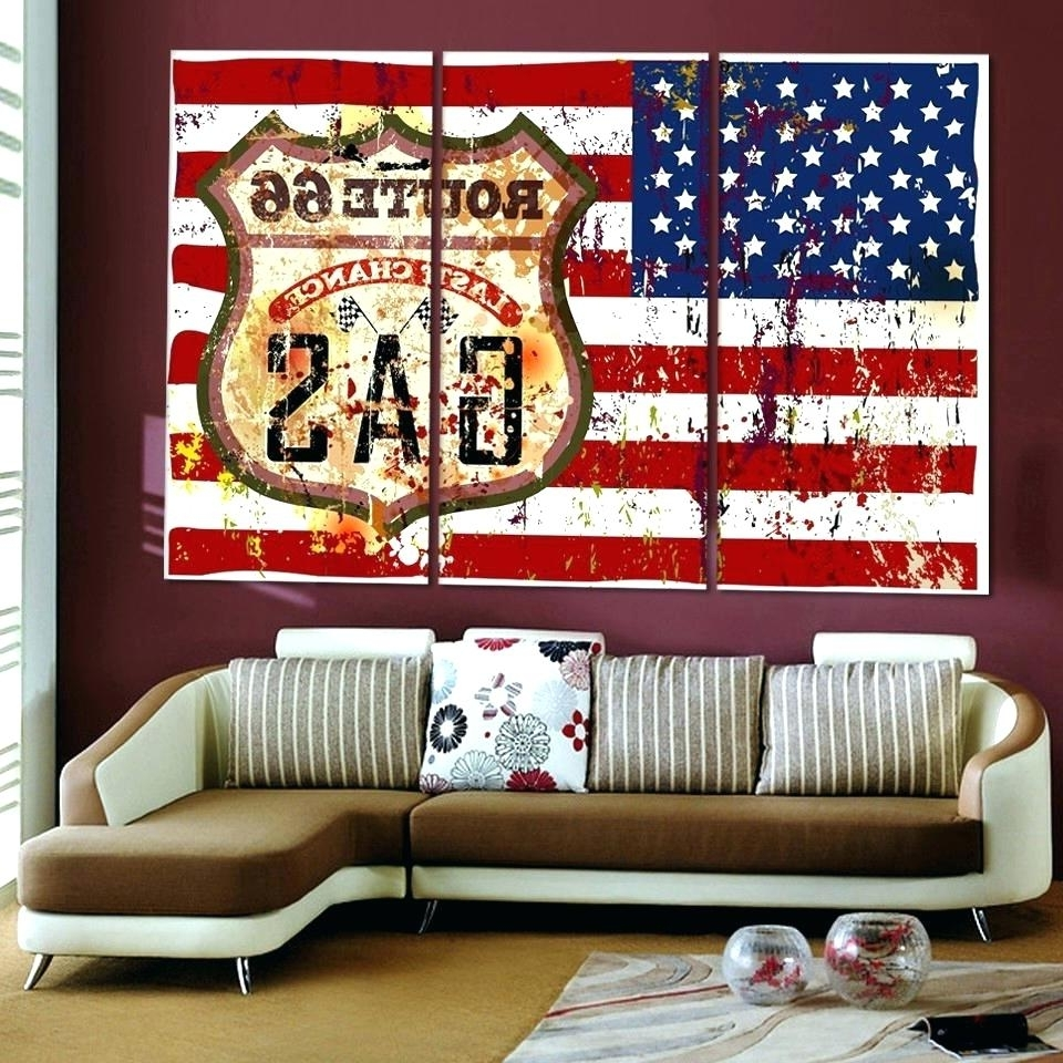 Most Current Large Christian Wall Art Inside Wall Arts ~ Patriotic Wall Decor Patriotic Outdoor Wall Art (View 11 of 15)