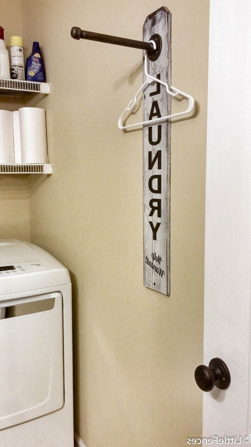 Most Current Laundry Room Sign, Industrial Pipe Clothing Rack, Laundry Room In Wall Art Coat Hooks (View 4 of 15)