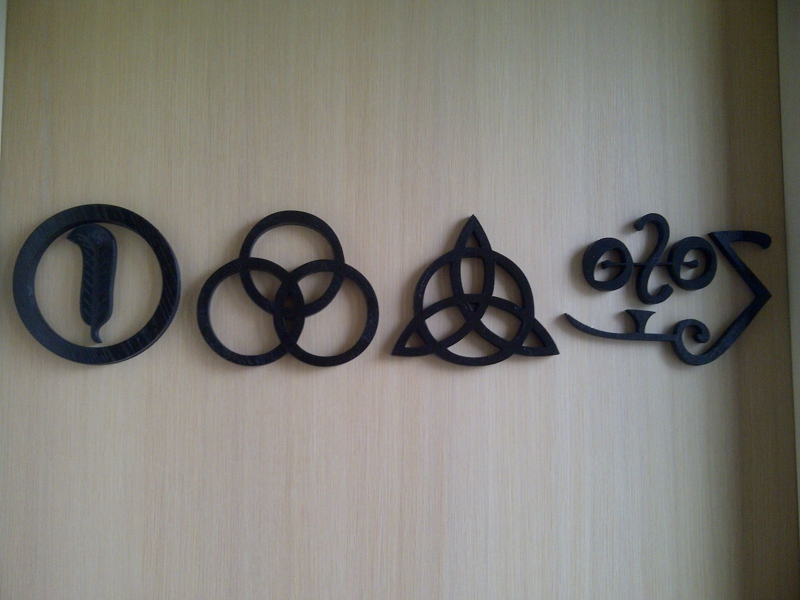 Most Current Led Zeppelin Wall Art Intended For Custom Led Zeppelin Zoso Wall Arthappycardboardsnpstudio (View 10 of 15)