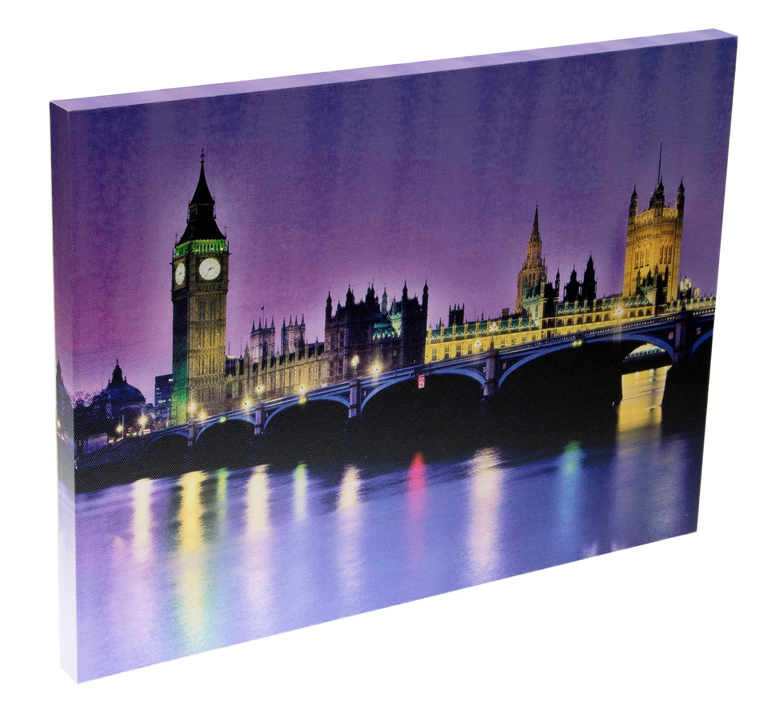 Most Current London Scene Wall Art Pertaining To London Scene Led Light Canvas Wall Art Home Office Decor Hanging (View 11 of 15)