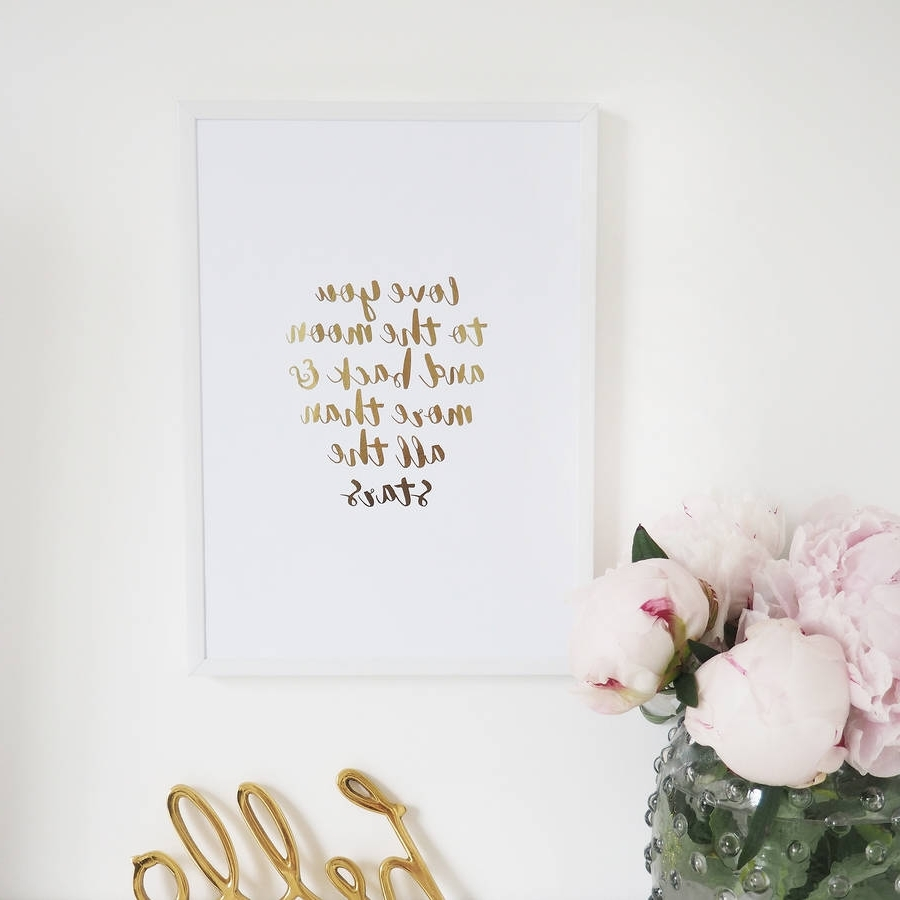 Featured Photo of Love You To The Moon And Back Wall Art