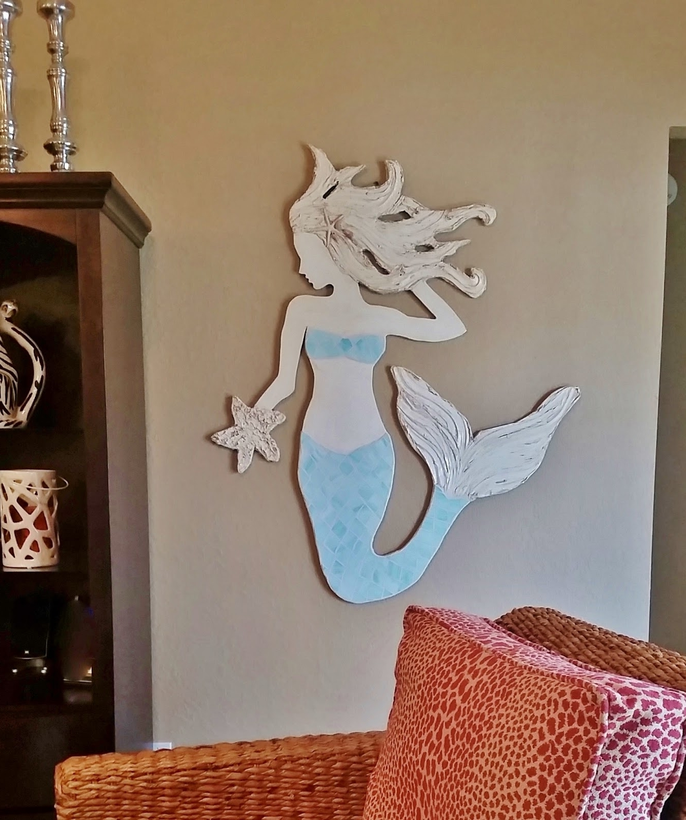 Most Current Mermaid Wood Wall Art With Regard To Wooden Mermaid Wall Decor – Unac (View 6 of 15)