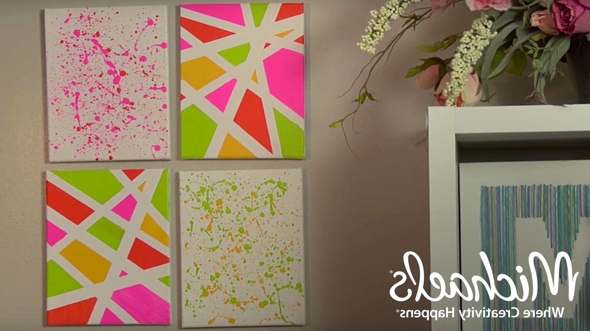 Most Current Michaels Wall Art Intended For Geometric And Splatter Paint Wall Décor (View 7 of 15)