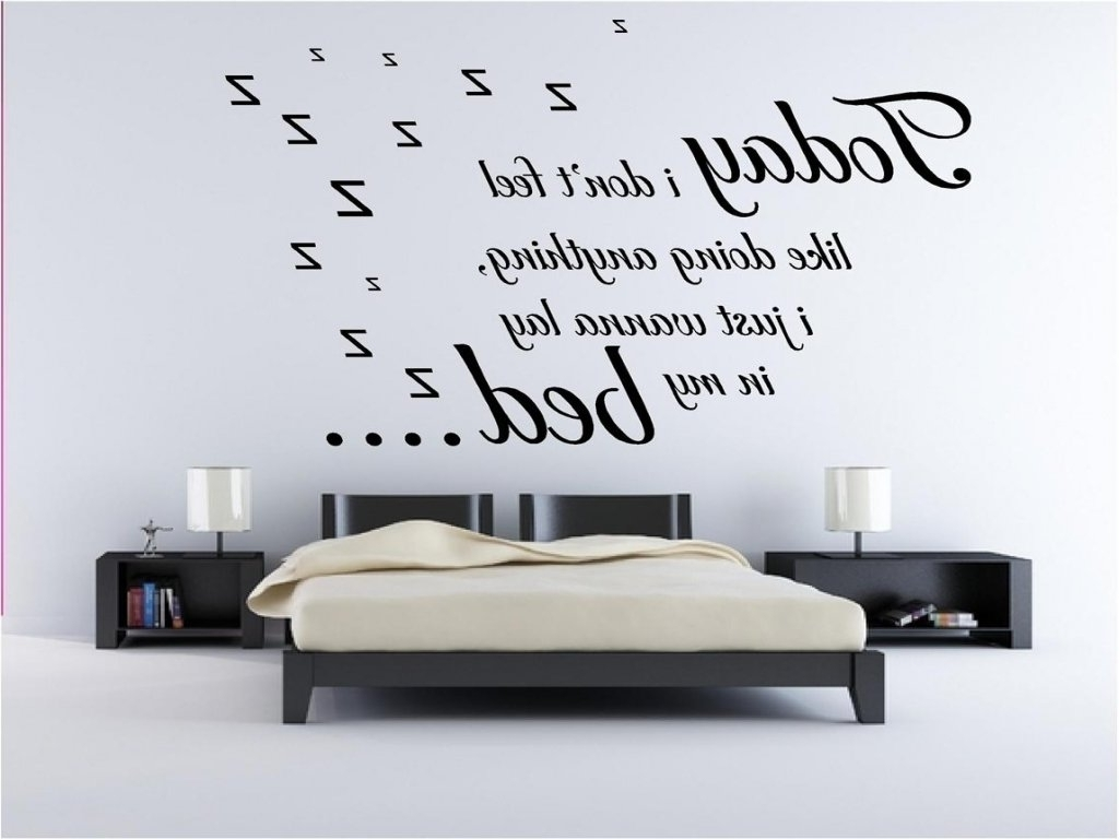 Most Current Music Lyrics Wall Art With Regard To Bedroom: Wall Decals For Bedroom Inspirational Bruno Mars Lazy (View 5 of 15)