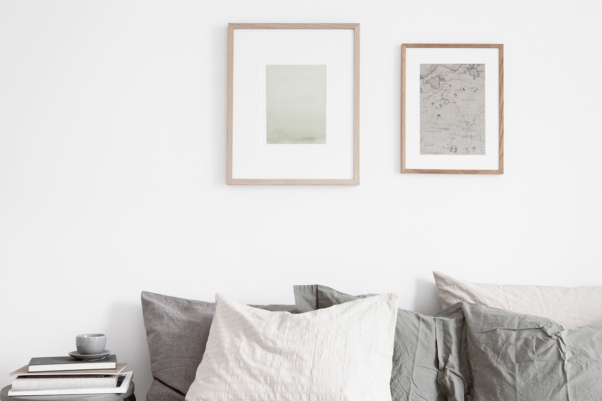 Most Current Neutral Wall Art For Decordots: Calm And Simple Bedroom In Soft Neutral Hues (View 4 of 15)
