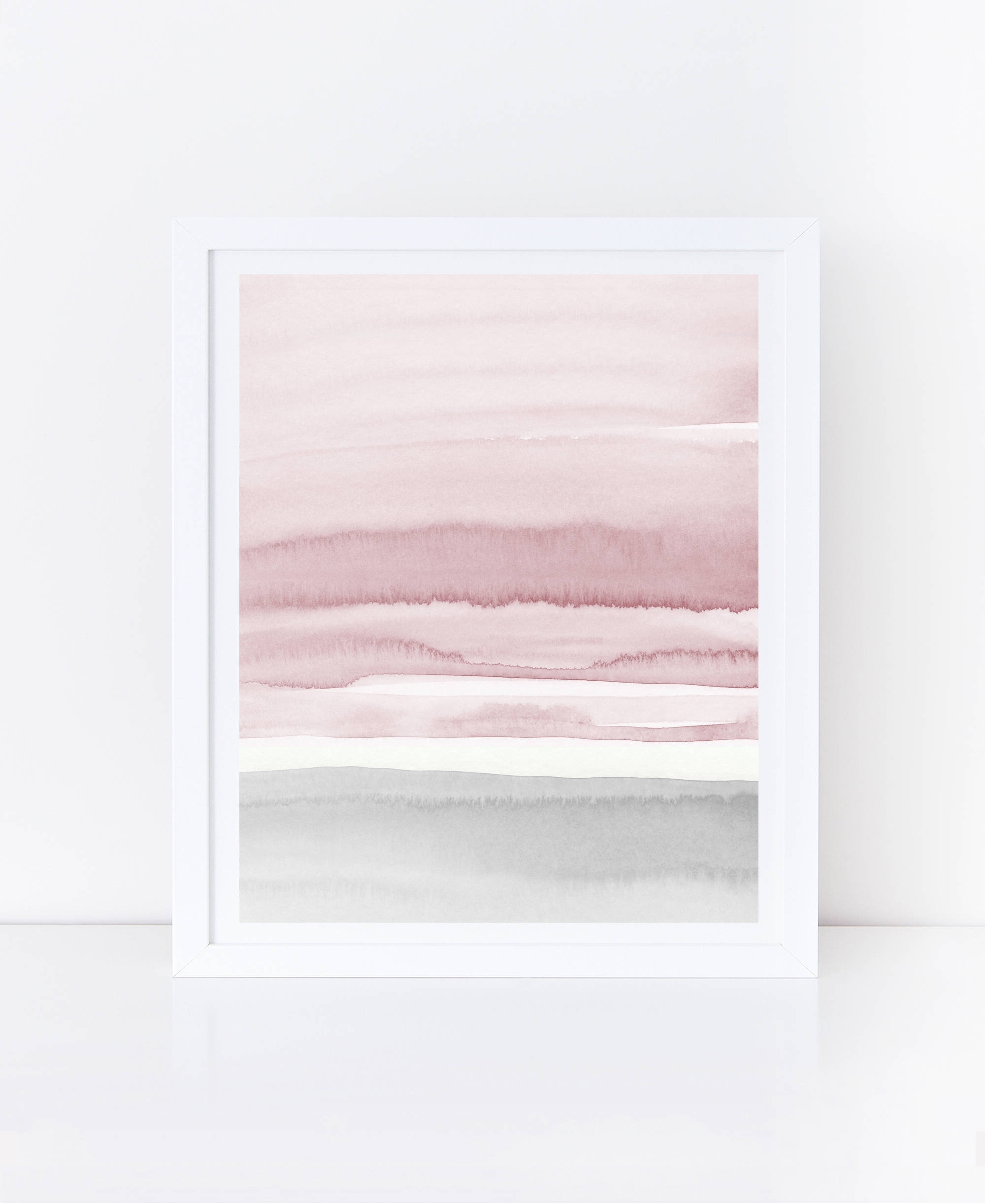 Most Current Neutral Wall Art With Blush Pink And Grey Abstract Art, Watercolor Printable Art (View 5 of 15)