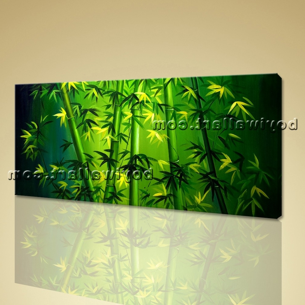Most Current Original Abstract Feng Shui Painting Giclee Print Bamboo Zen Art Inside Feng Shui Wall Art (View 9 of 15)