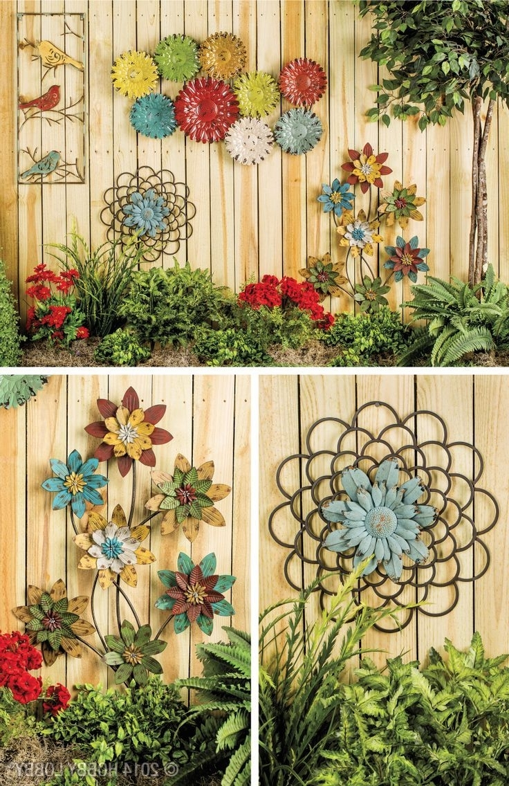 Most Current Outside Wall Art Intended For Outdoor Wall Murals For The Garden Metal Sun Wall Art Wrought Iron (View 5 of 15)