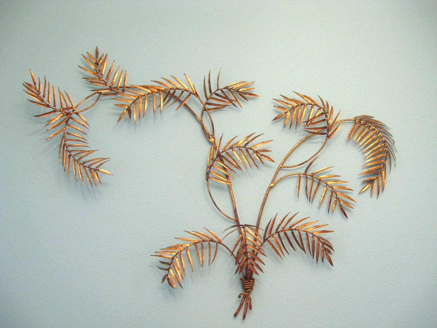 Most Current Palm Leaf Wall Decor Regarding Vintage Hollywood Regency Gold Gilt Palm Leaf Wall Art Sculpture (View 7 of 15)