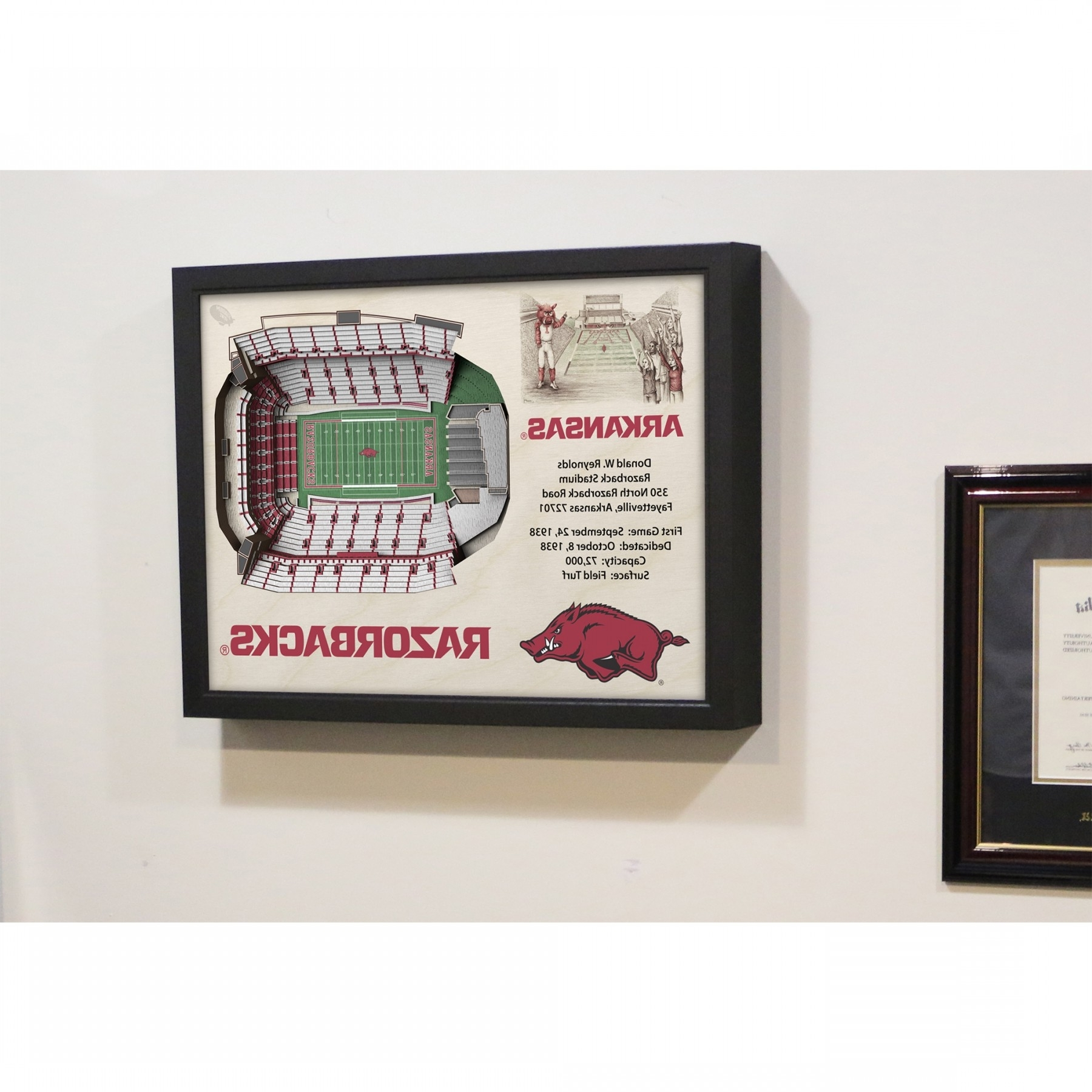 Most Current Razorback Wall Art Intended For Arkansas Razorbacks Stadiumview Wall Art – Donald W (View 6 of 15)