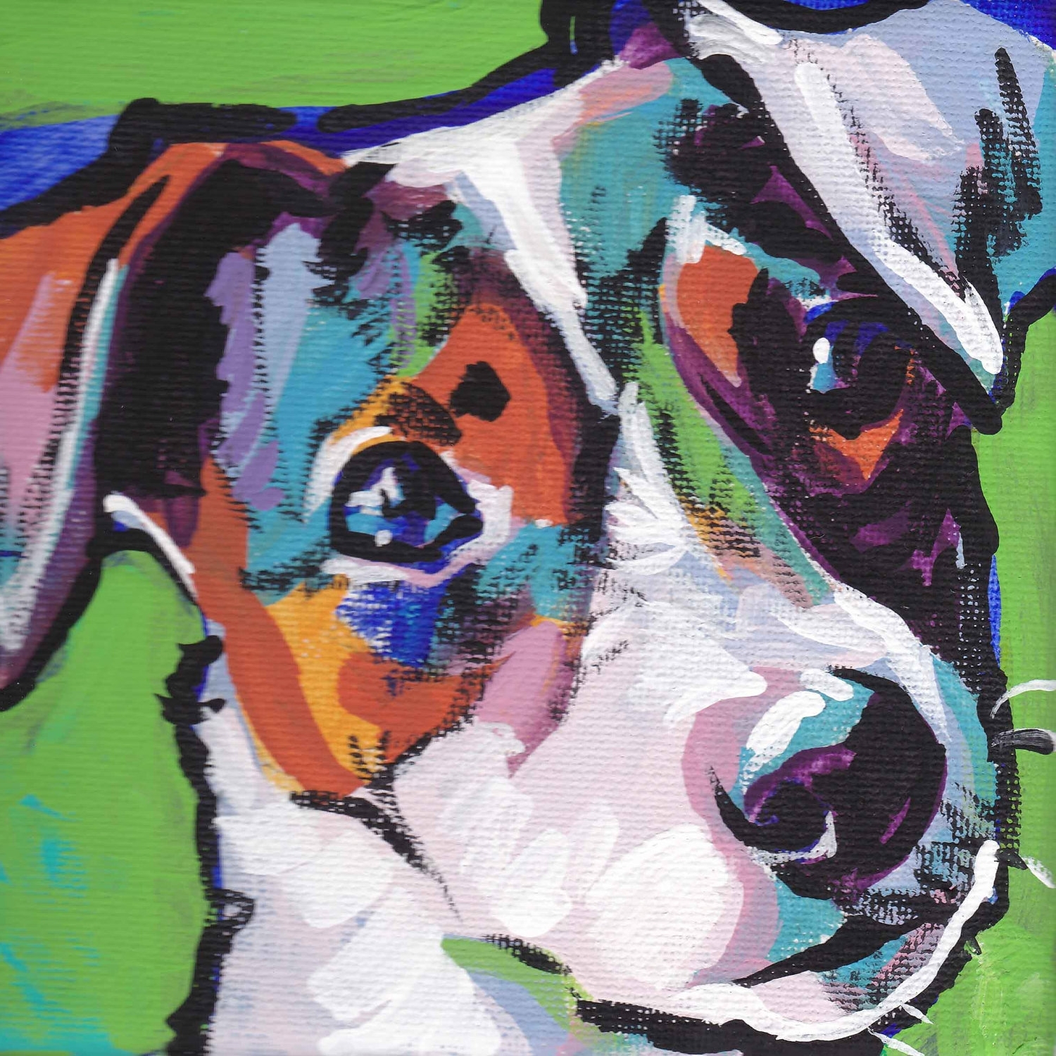 Most Current Smooth Jack Russell Terrier Art Print Pop Dog Art Bright Colors With Abstract Dog Wall Art (View 10 of 15)