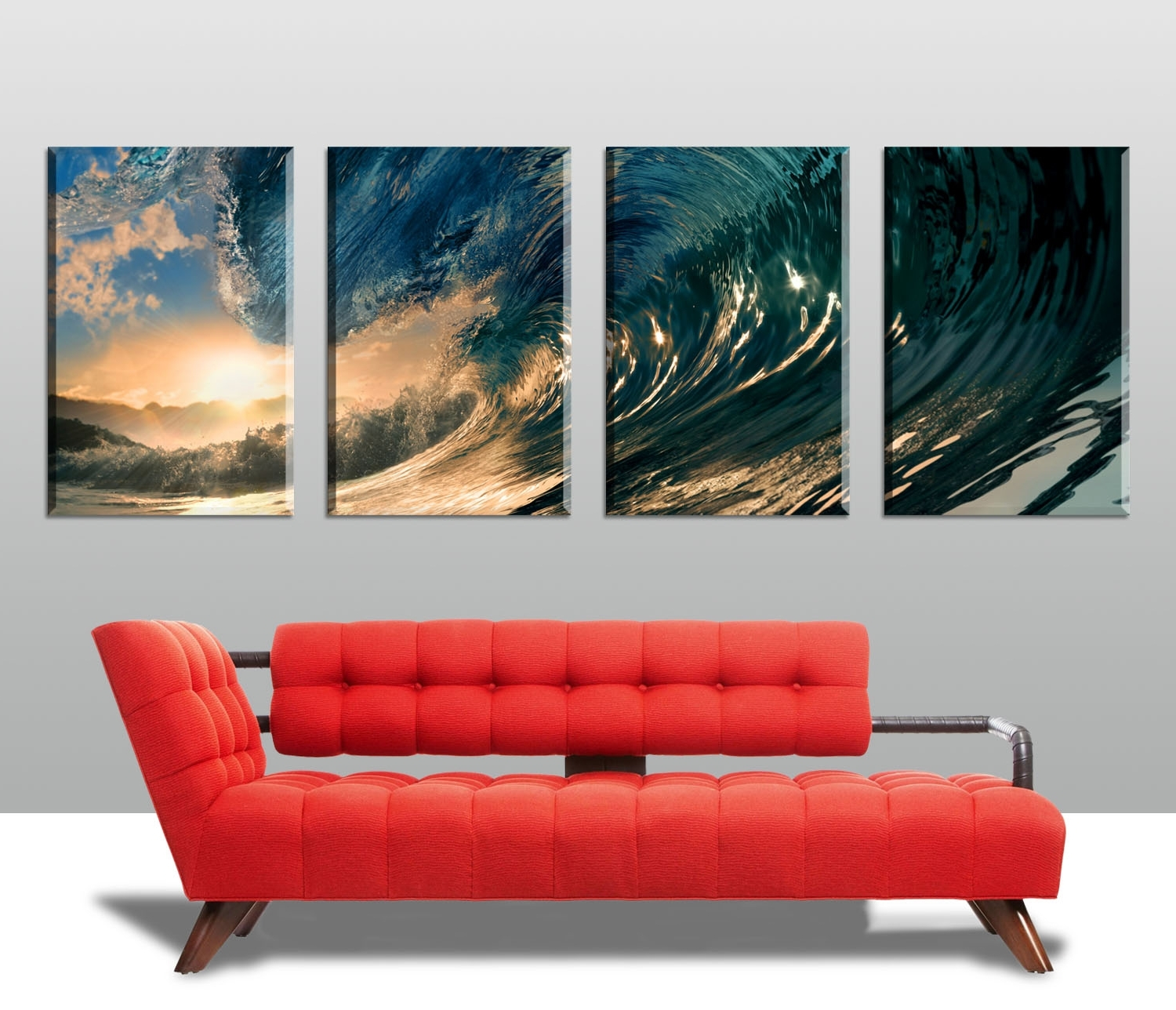 Most Current Split Wall Art Within Large Surfing Split Canvas Print Coffs Harbour Nsw (View 15 of 15)