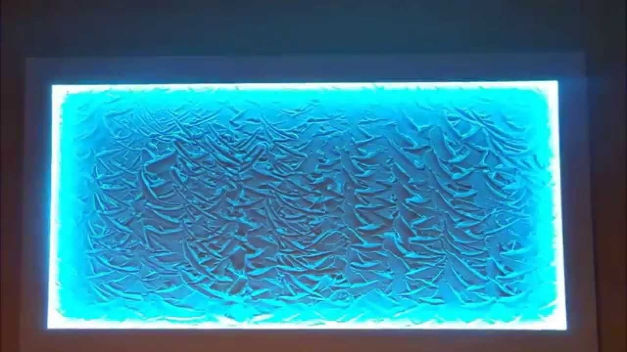 Most Current Teal Wall Art Uk Throughout Wall Art Design Ideas: Rectangular Shape Led Wall Art Adorable (View 5 of 15)