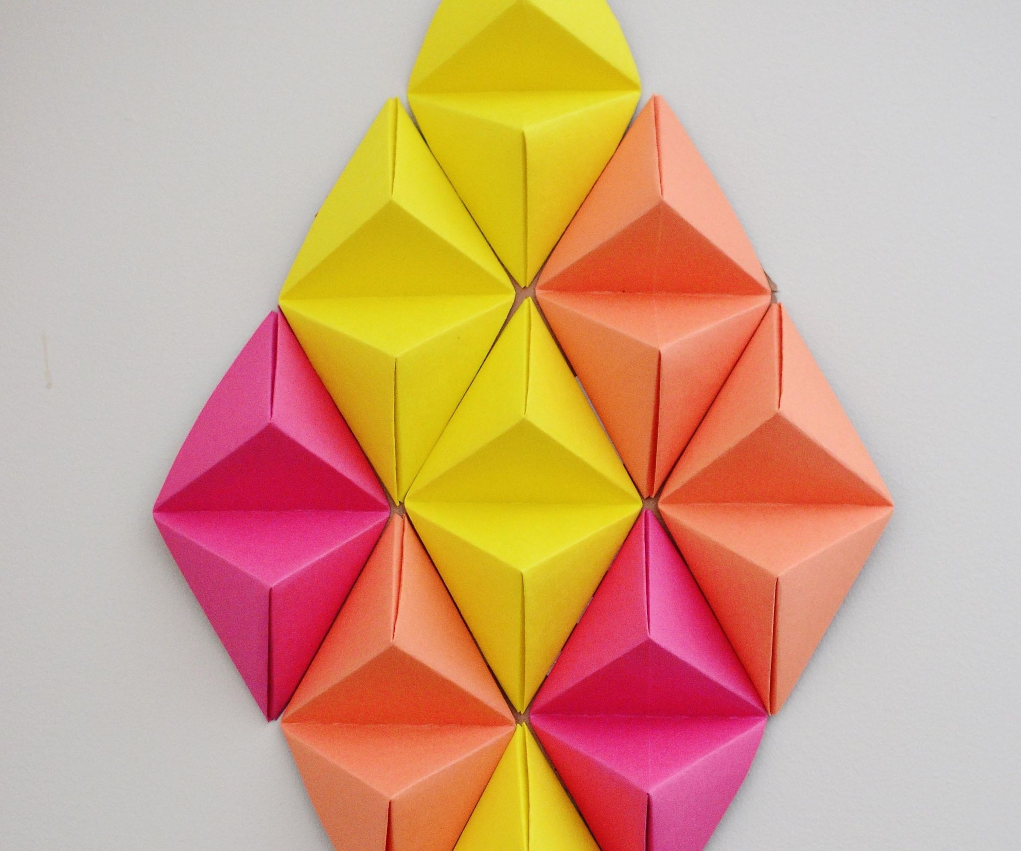 Most Current Wall Art 3D (With Pictures) Intended For Diy Origami Wall Art (View 10 of 15)