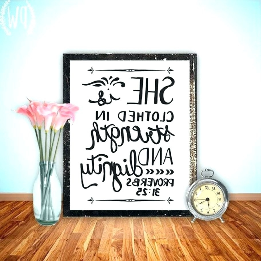 Most Current Wall Arts ~ Bible Verse Wall Art Canvas Bible Verse Wall Art With Bible Verses Framed Art (View 15 of 15)