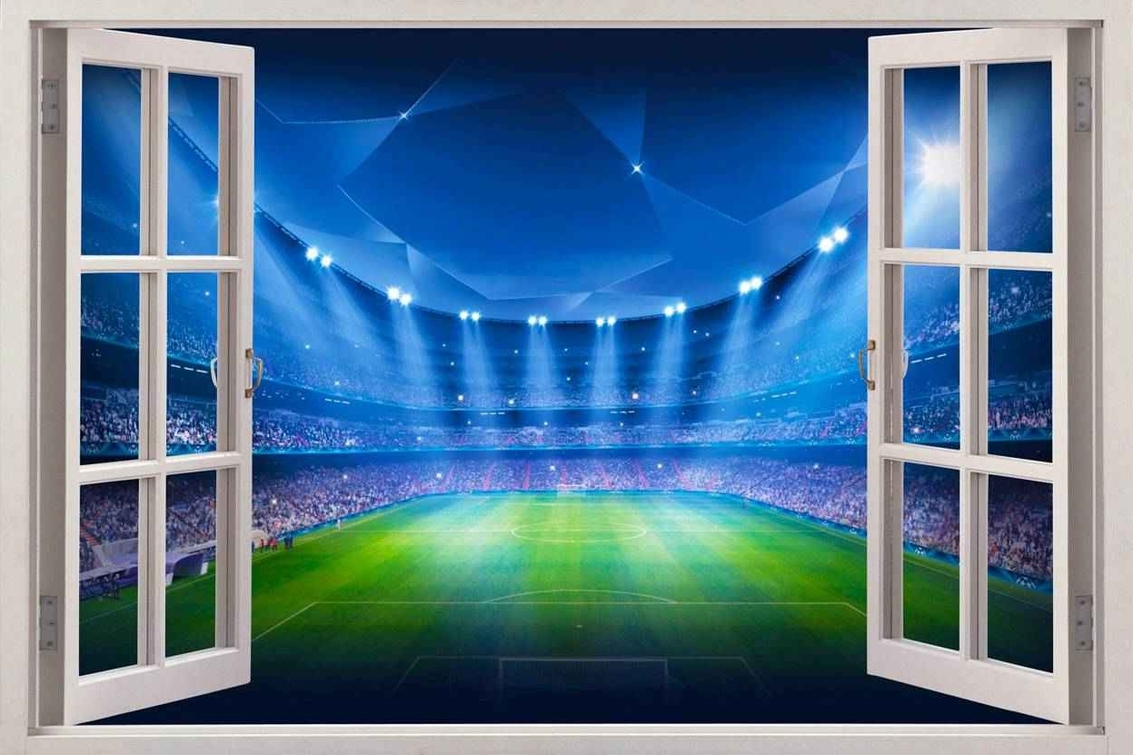 Most Current Window Exotic Beach View Wall Stickers Film Mural Art Decal In 3D Stadium View Wall Art (View 8 of 15)