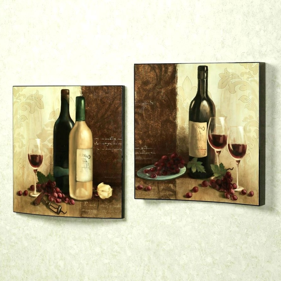 Most Current Wine Theme Wall Art With Regard To Wall Arts ~ Metal Wall Art Wine Theme Metal Wall Art Wine Grapes (View 8 of 15)