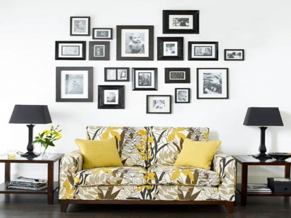 Most Current Wondrous Black Frame Ideas Together With Family Photo Wall Combine With Regard To Wall Art Frames (View 3 of 15)