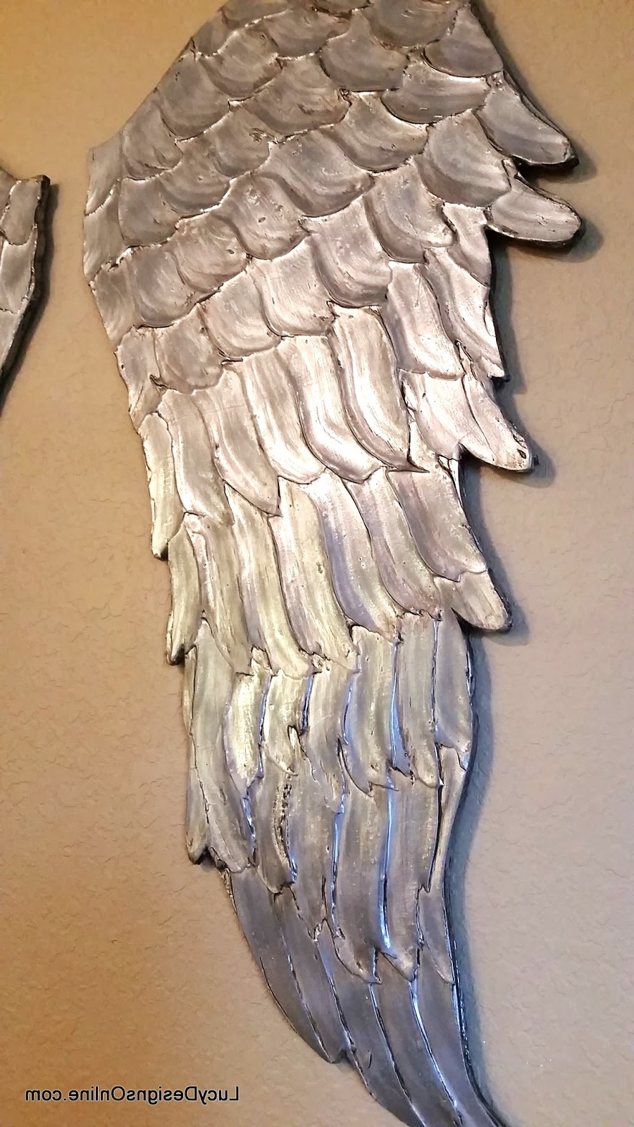 Most Current Wood Angel Wings Wall Art, Large Carved Look Wooden Angel Wings Intended For Angel Wing Wall Art (View 6 of 15)
