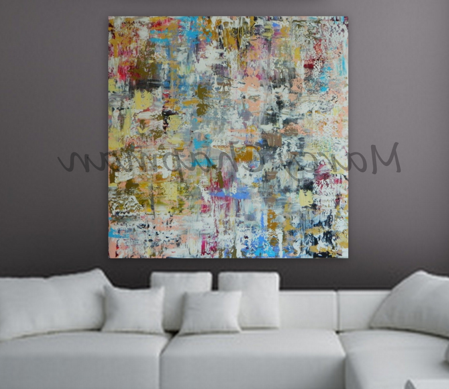 Most Current Xl, Large, Huge Abstract Painting 46 X 46 Unstretched Canvas Throughout 48X48 Canvas Wall Art (View 9 of 15)