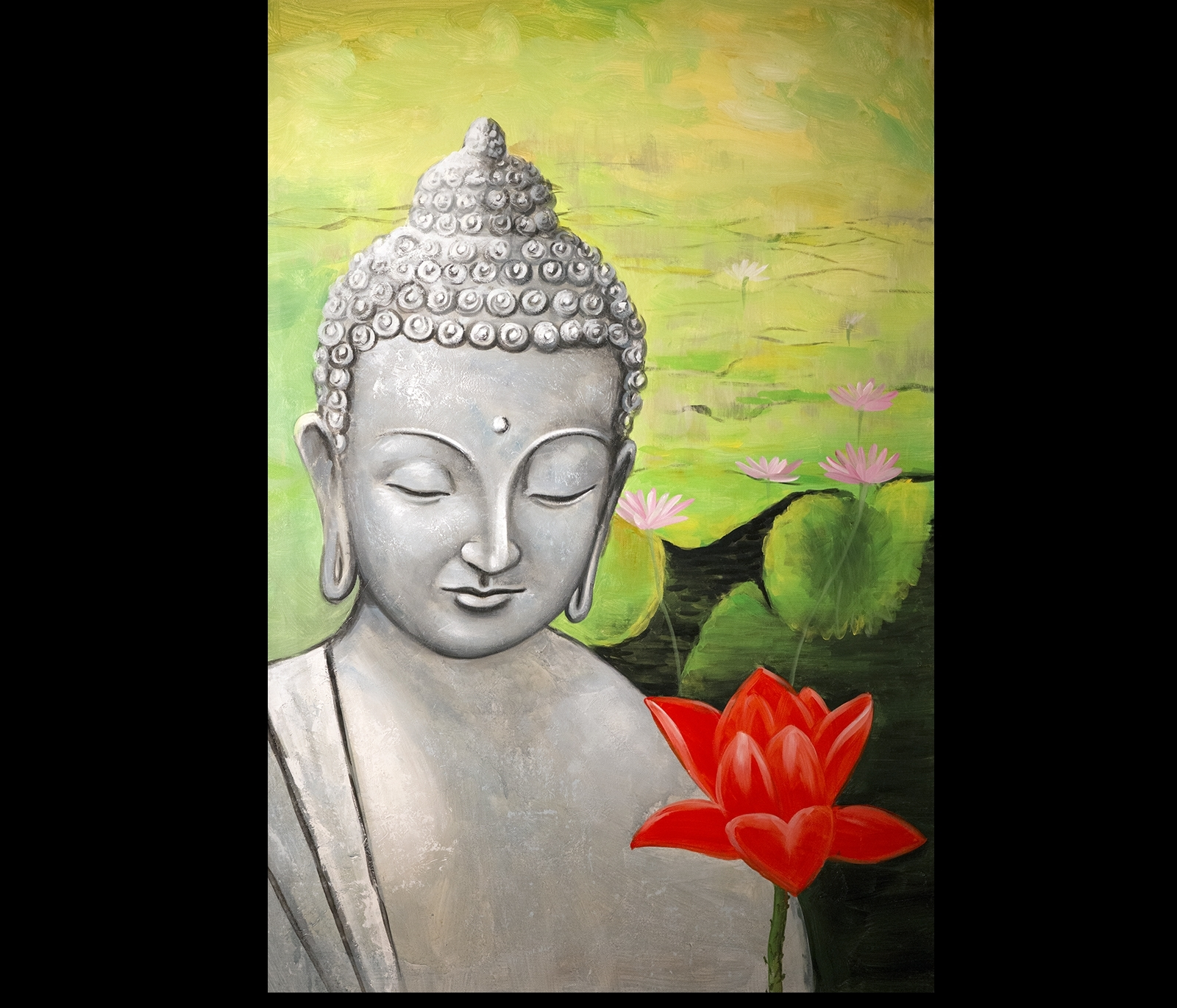 Most Current Zen Buddha Art Modern Wall Decor Buddha Painting Abstract Canvas With Abstract Buddha Wall Art (View 13 of 15)