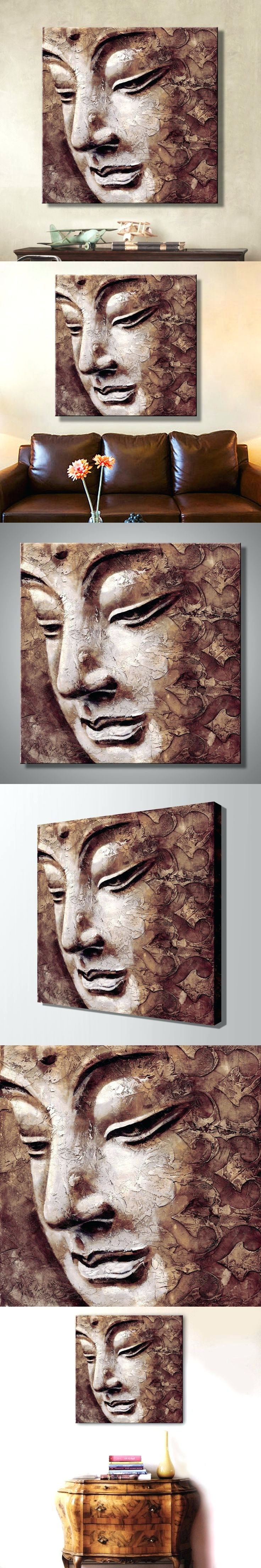 Most Popular 3D Buddha Wall Art Throughout Wall Arts ~ 3D Buddha Concave Wall Sculpture Large Buddha Face (View 7 of 15)