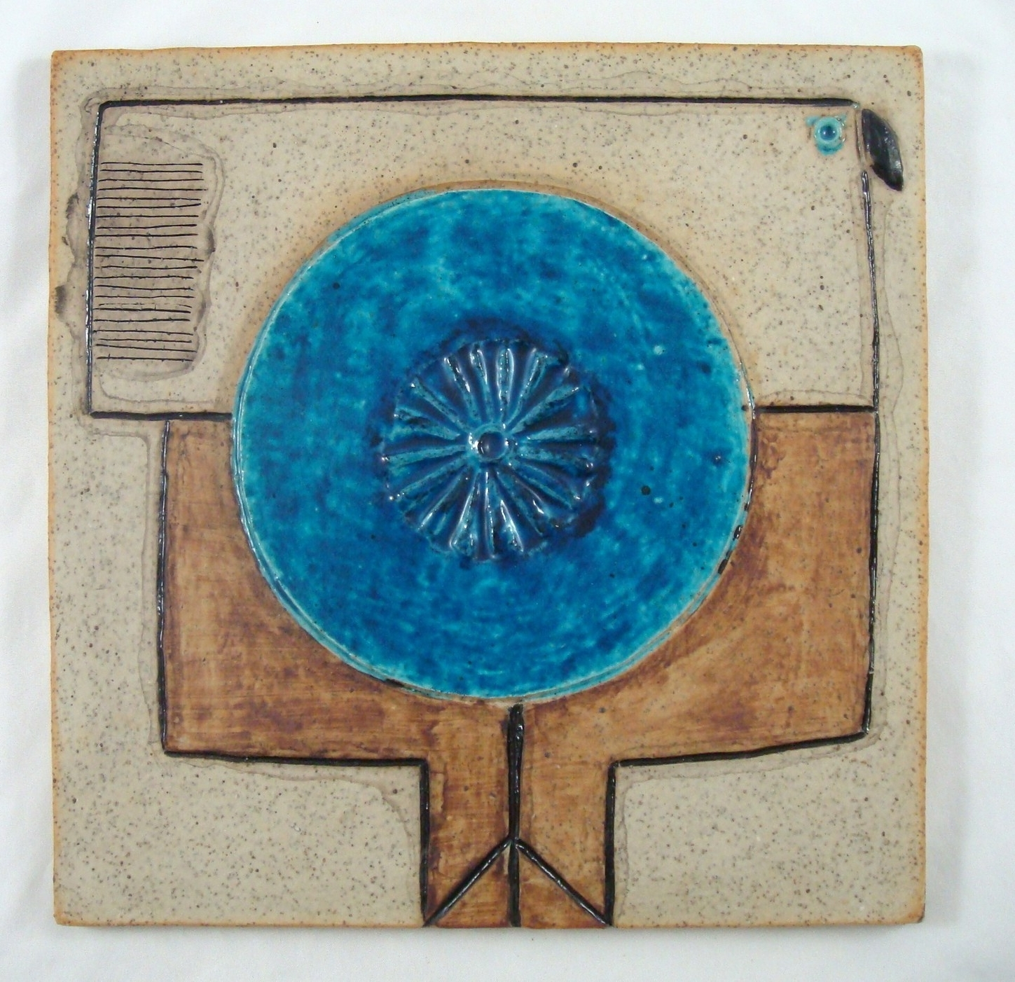 Most Popular Abstract Ceramic Wall Art Intended For Inger Persson Rörstrand Atelje Sweden Abstract Mid Century Tile (View 5 of 15)