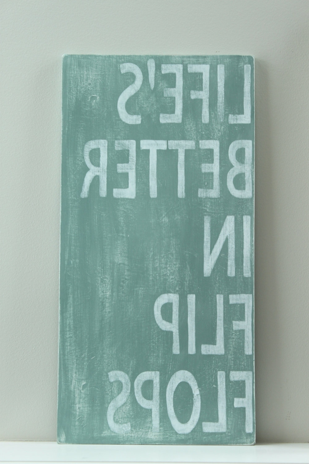 Most Popular Beach Sign, Custom Wood Sign, Beach Quote, Life's Better In Flip With Flip Flop Wall Art (View 13 of 15)