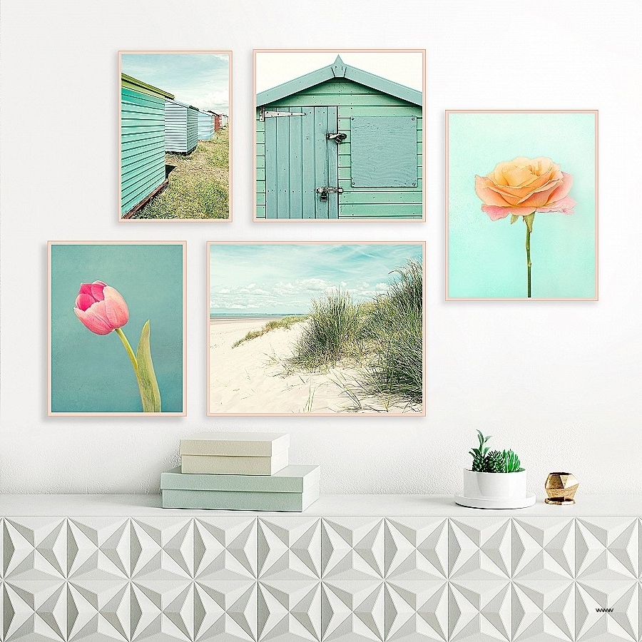 Most Popular Beach Themed Wall Art Best Of Beach Gallery Wall Set Of 5 In Beach Themed Wall Art (View 10 of 15)