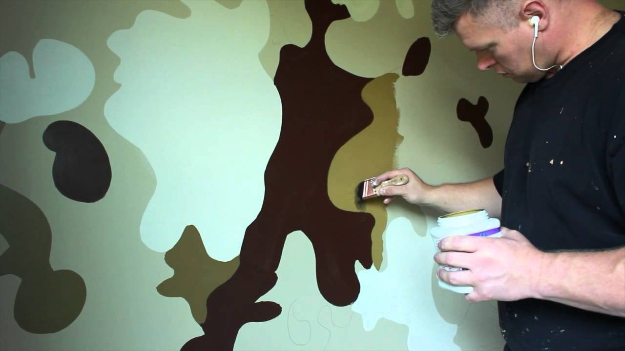 Most Popular Boys Bedroom Ideas Army Military Camouflage Room – Youtube With Camouflage Wall Art (View 9 of 15)