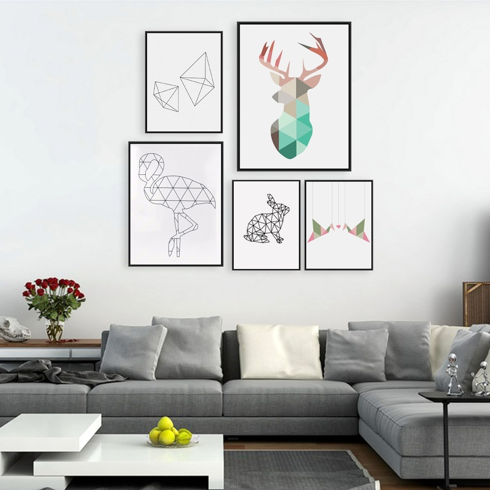 Most Popular Buy Crane Wall Art And Get Free Shipping On Aliexpress Intended For Large White Wall Art (View 7 of 15)
