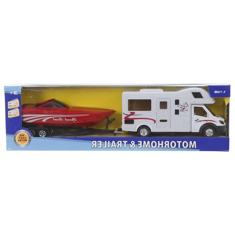 Most Popular Class C Motorhome And Boat Trailer – Prime Products 27 0027 – Toys Inside Campervan Metal Wall Art (View 9 of 15)