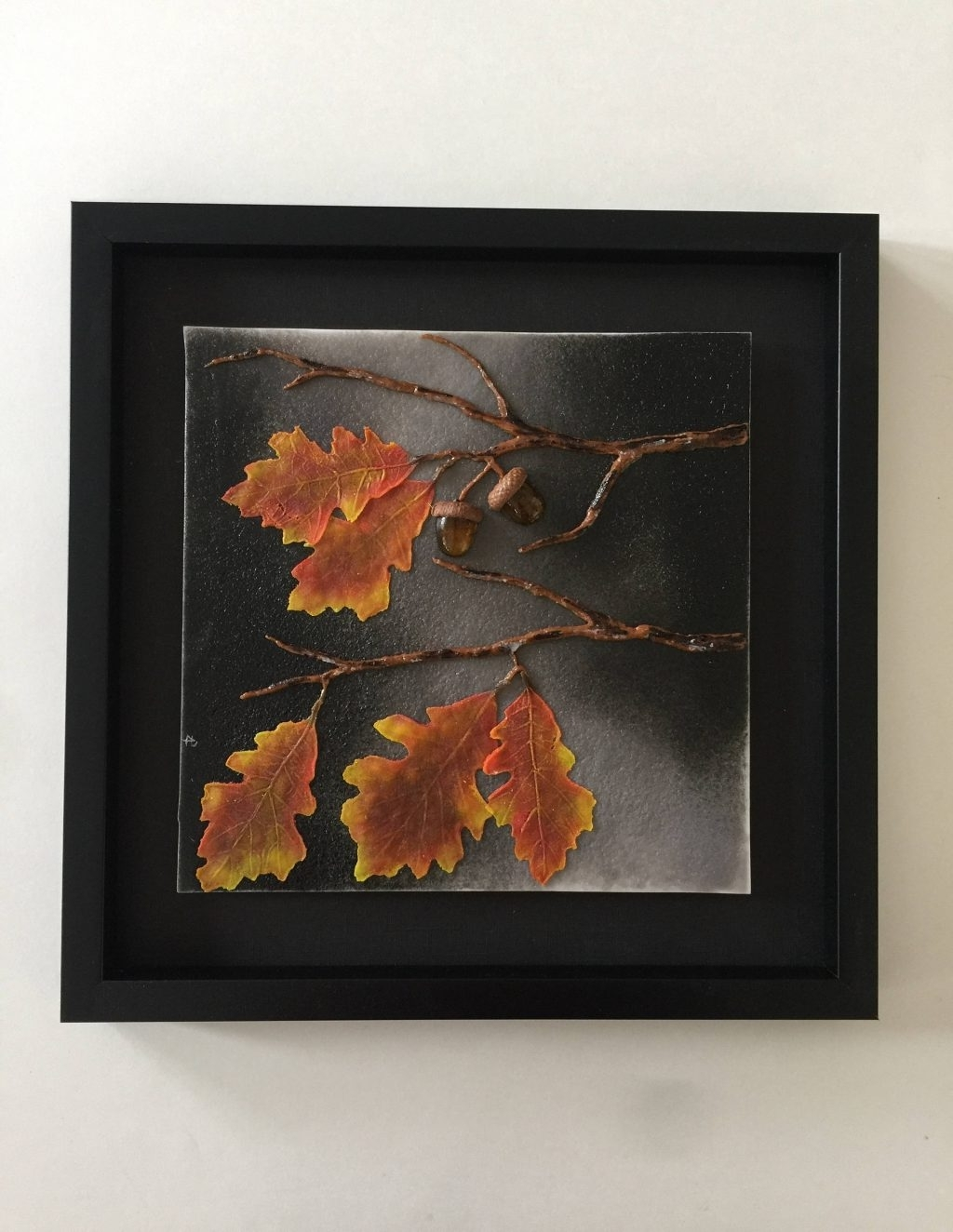 Most Popular Cool Design Fused Glass Wall Art Together With Handmade Oak Tree Regarding Fused Glass Wall Art Devon (View 5 of 15)