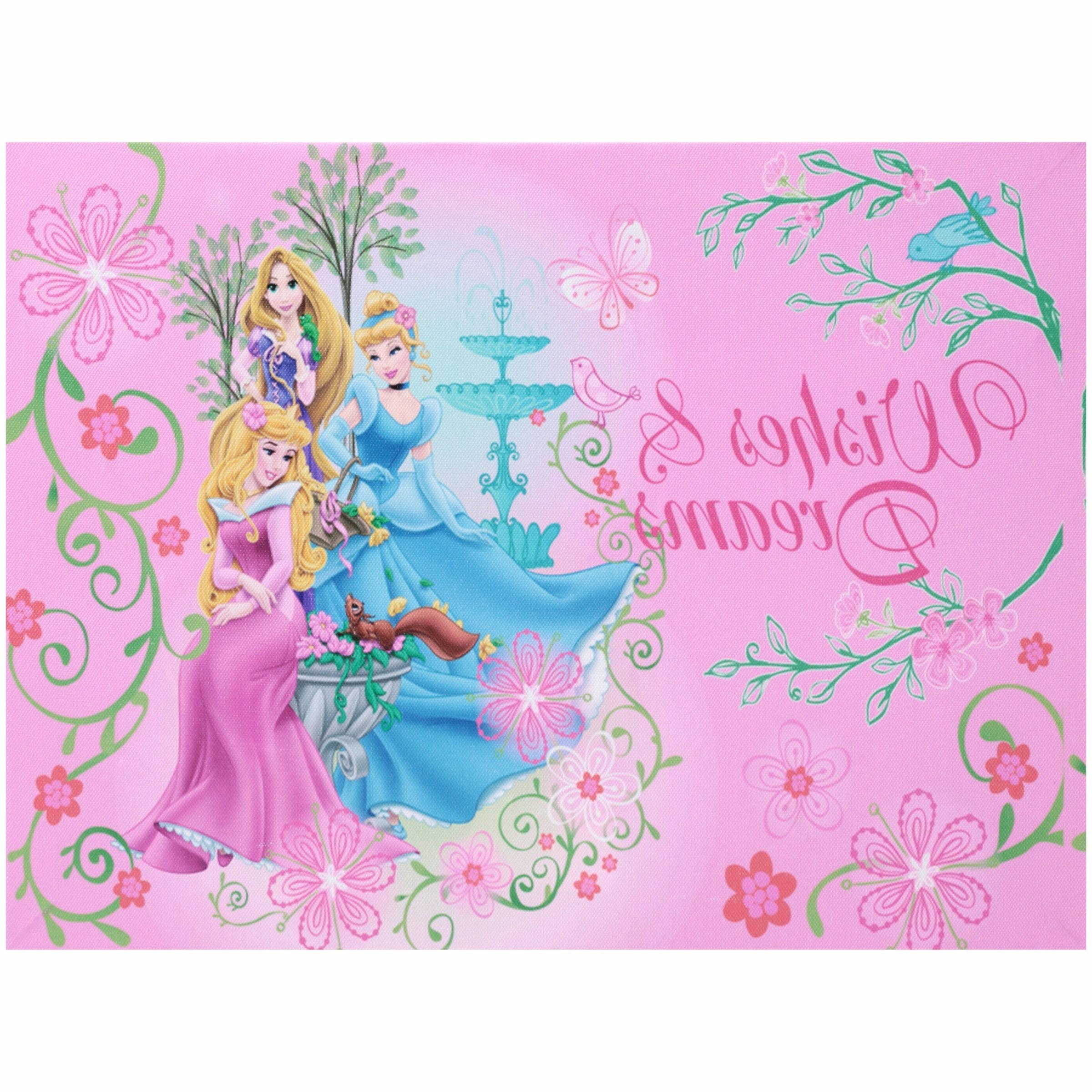 Most Popular Disney Princess Led Light Up Canvas Wall Art – Walmart For Princess Canvas Wall Art (View 6 of 15)
