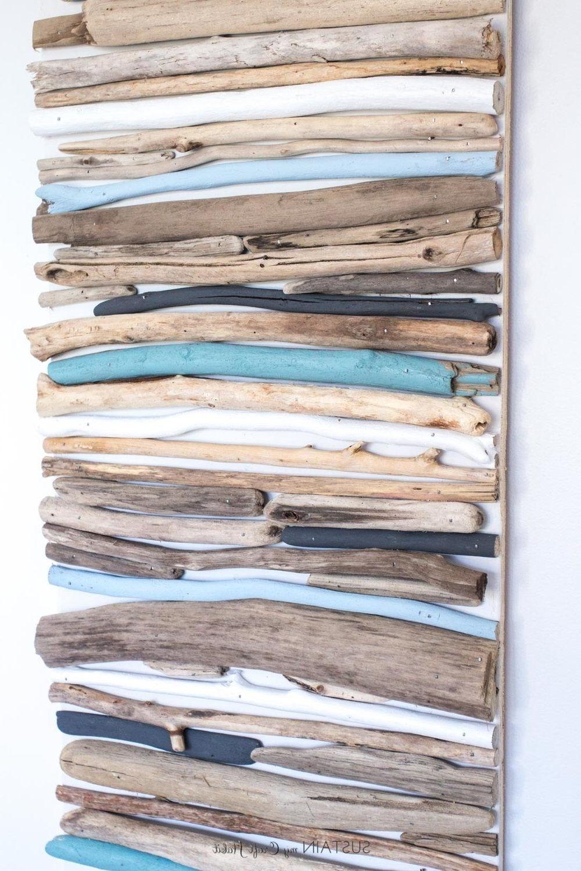 Most Popular Driftwood Wall Art Regarding Diy Coastal Decor – Painted Driftwood Wall Art (View 12 of 15)
