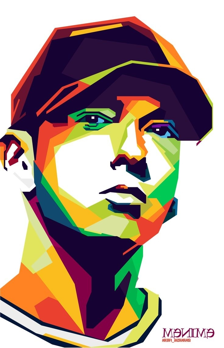 Most Popular Eminem Wall Art Throughout Eminem Art (View 8 of 15)