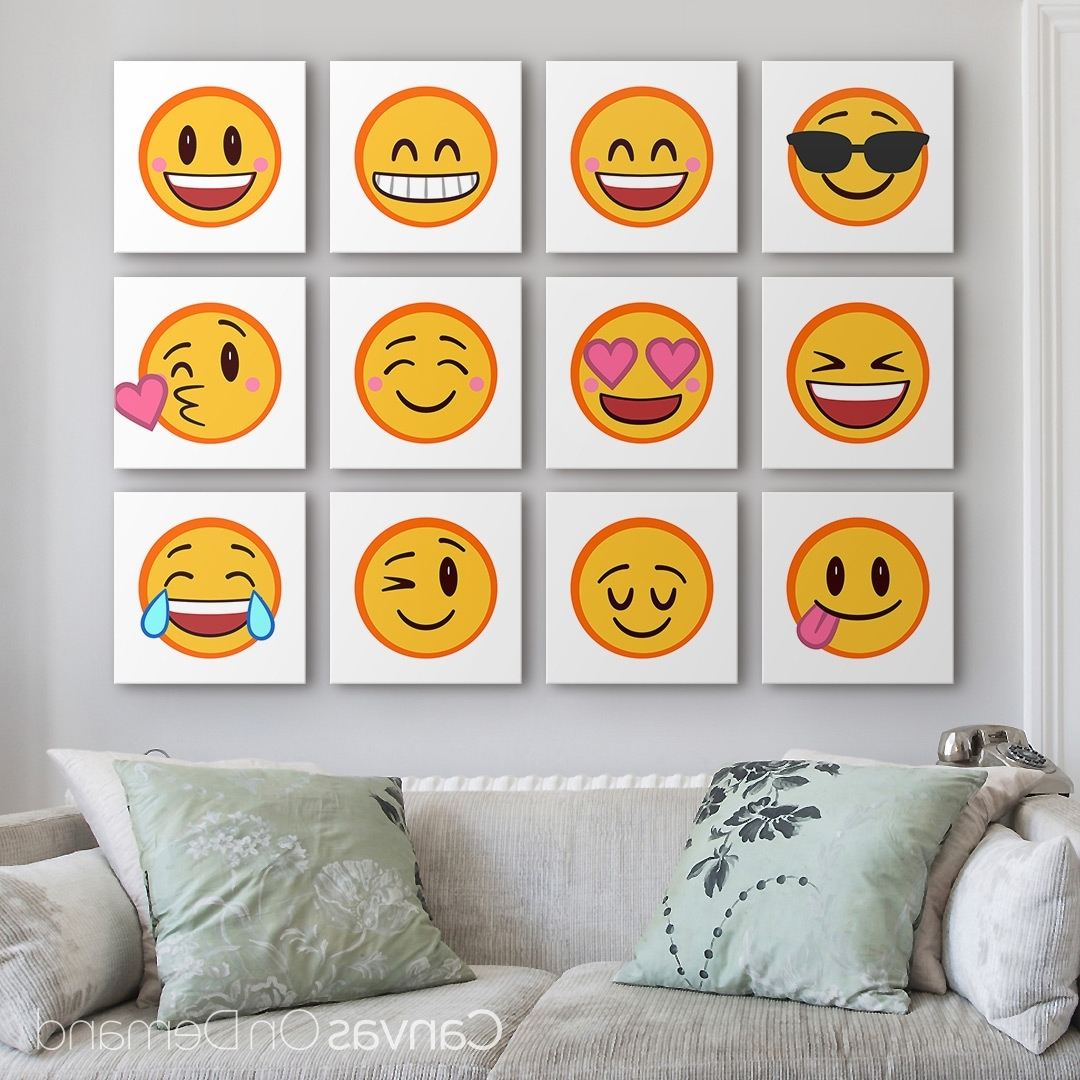 Most Popular Emoji Wall Art Pertaining To Say What's On Your Mind Or Match The Mood Of Your Decor With Our (View 6 of 15)