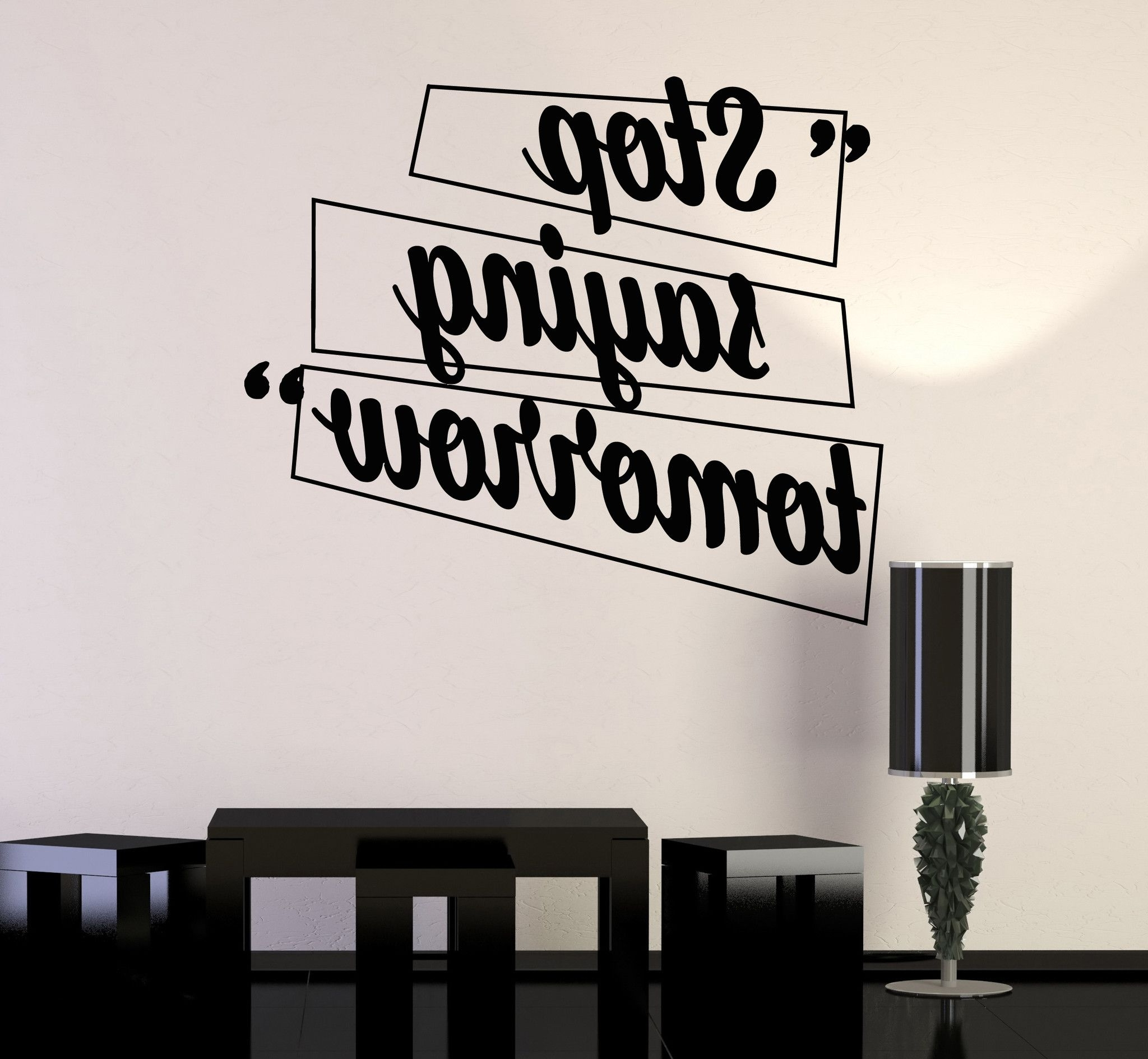 Most Popular Inspirational Wall Decals For Office With Regard To Vinyl Wall Decal Motivation Quotes Office Home Inspiration (View 11 of 15)