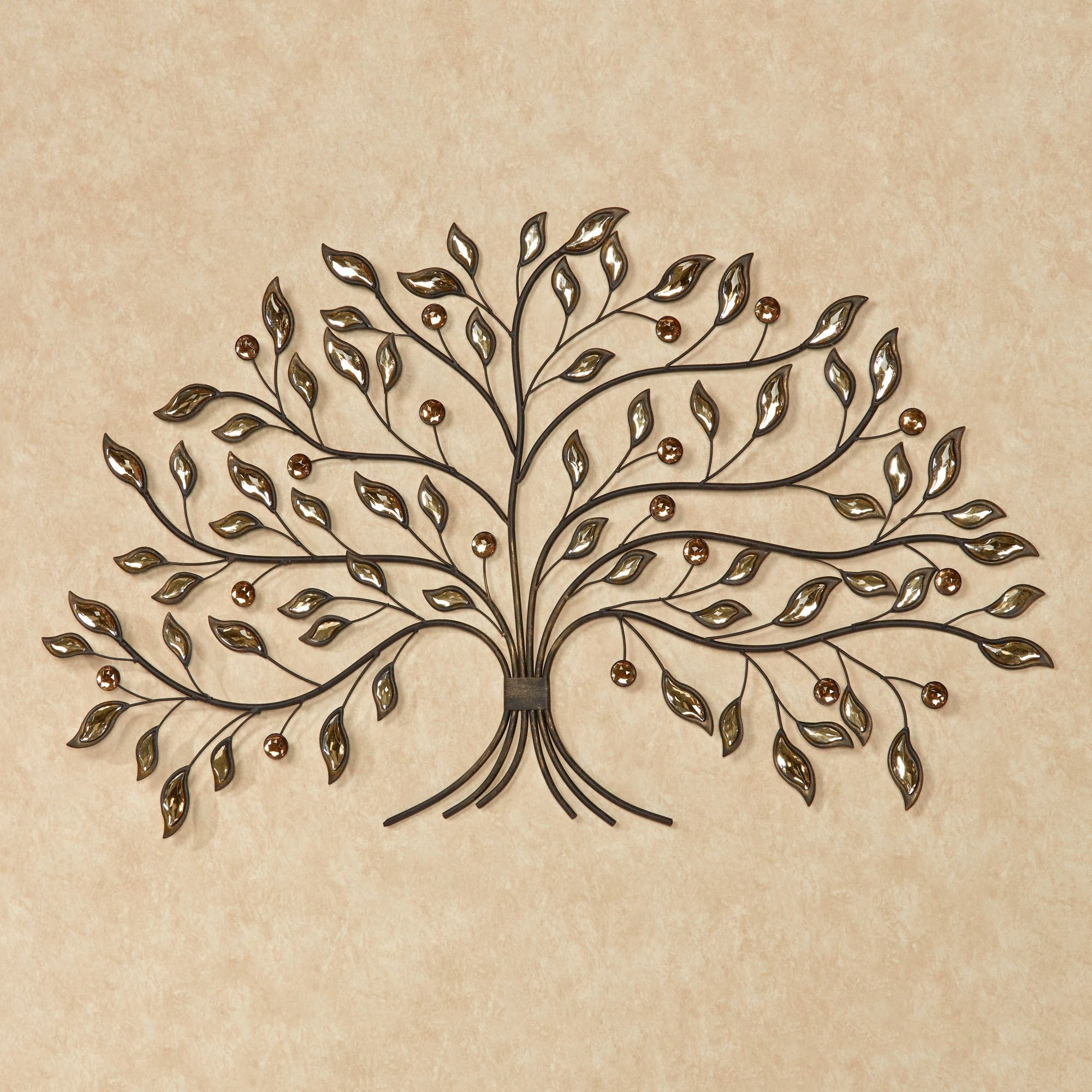 Most Popular Iron Tree Wall Art In Alexandra Vining Gem Tree Metal Wall Art (View 9 of 15)
