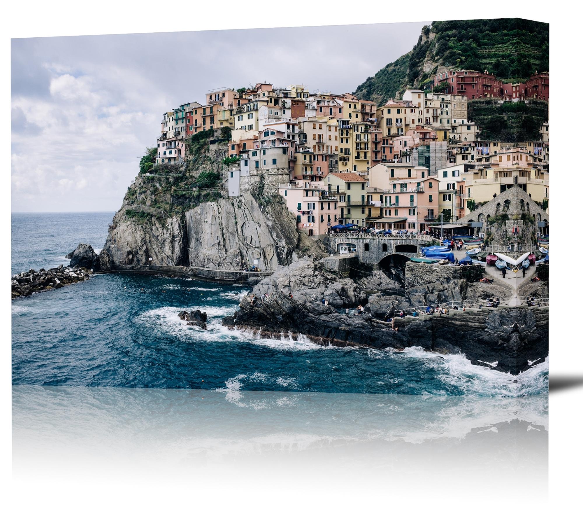 Most Popular Italian Coast Wall Art Throughout Manarola Cinque Terre Italy Art Print Wall Decor Image – Canvas (View 8 of 15)