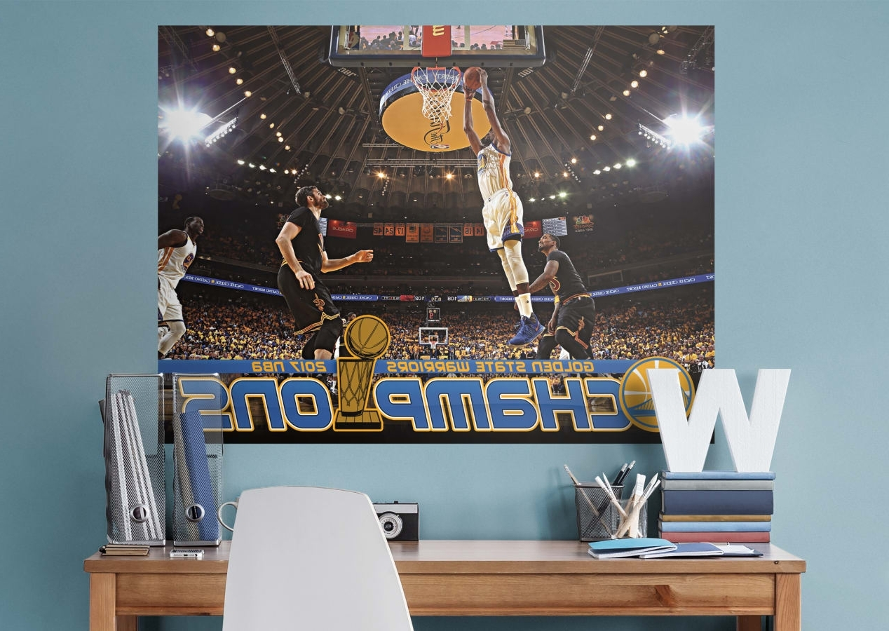 Most Popular Kevin Durant 2017 Nba Finals Dunk Mural Wall Decal (View 5 of 15)