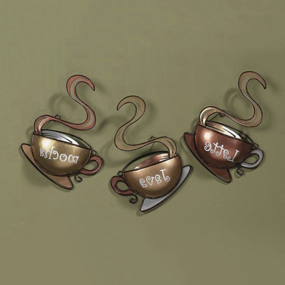 Most Popular Metal Coffee Cup Wall Art Intended For Coffee House Cup Design Mug Latte Java Mocha Metal Wall Art Home (View 4 of 15)