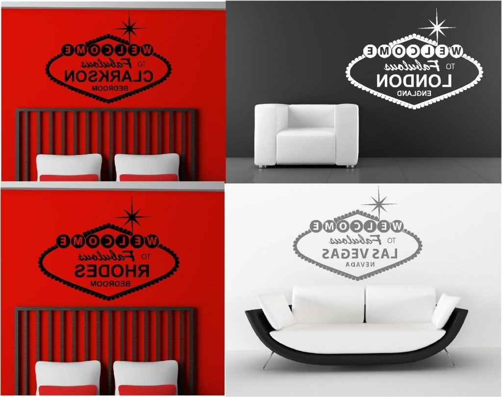 Most Popular Personalised Welcome To Fabulous Wall Art Graphics Stickers With Graphic Design Wall Art (View 12 of 15)