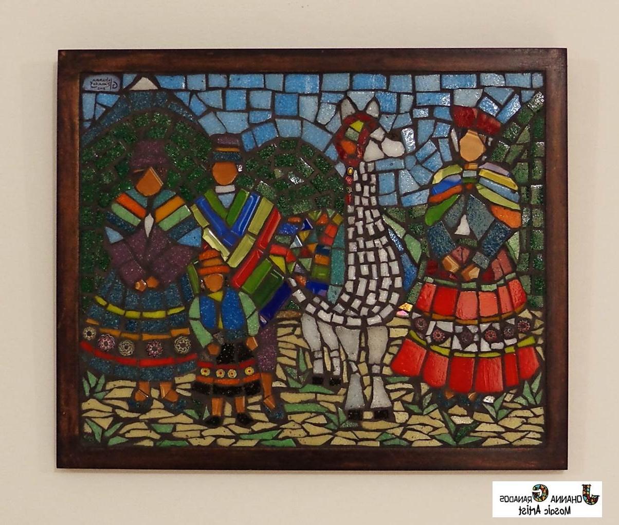 Most Popular Peruvian Family Portrait. Mosaic Wall Art (25x20cm) (View 2 of 15)