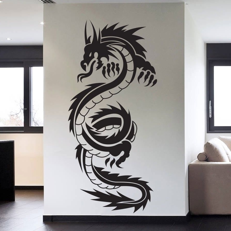 Most Popular Removable High Quality Vinyl Wall Art Decals Sticker Chinese For Tattoos Wall Art (View 5 of 15)