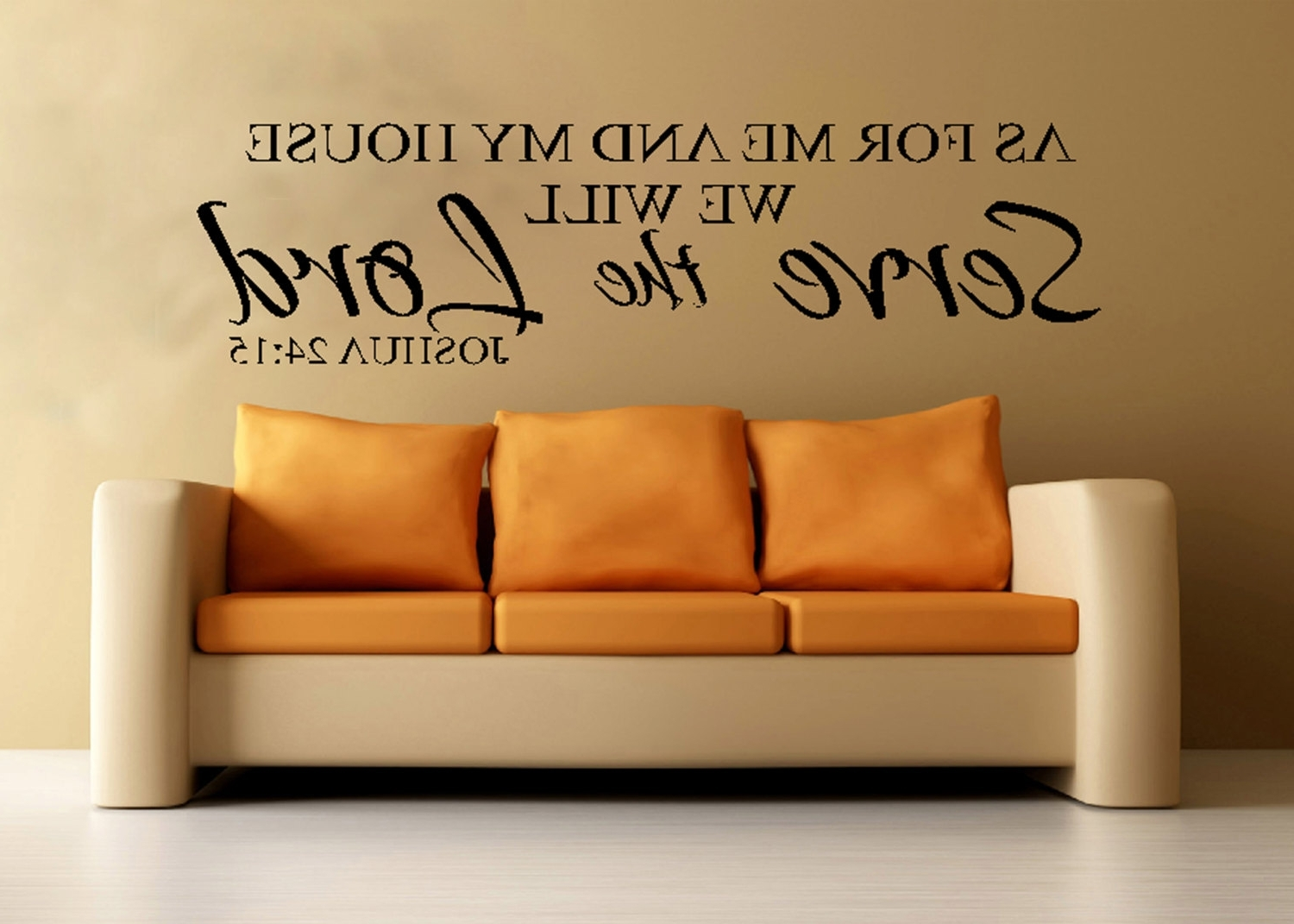 Most Popular Scripture Wall Vinyl – Bible Verse – As For Me And My House We With As For Me And My House Vinyl Wall Art (View 9 of 15)