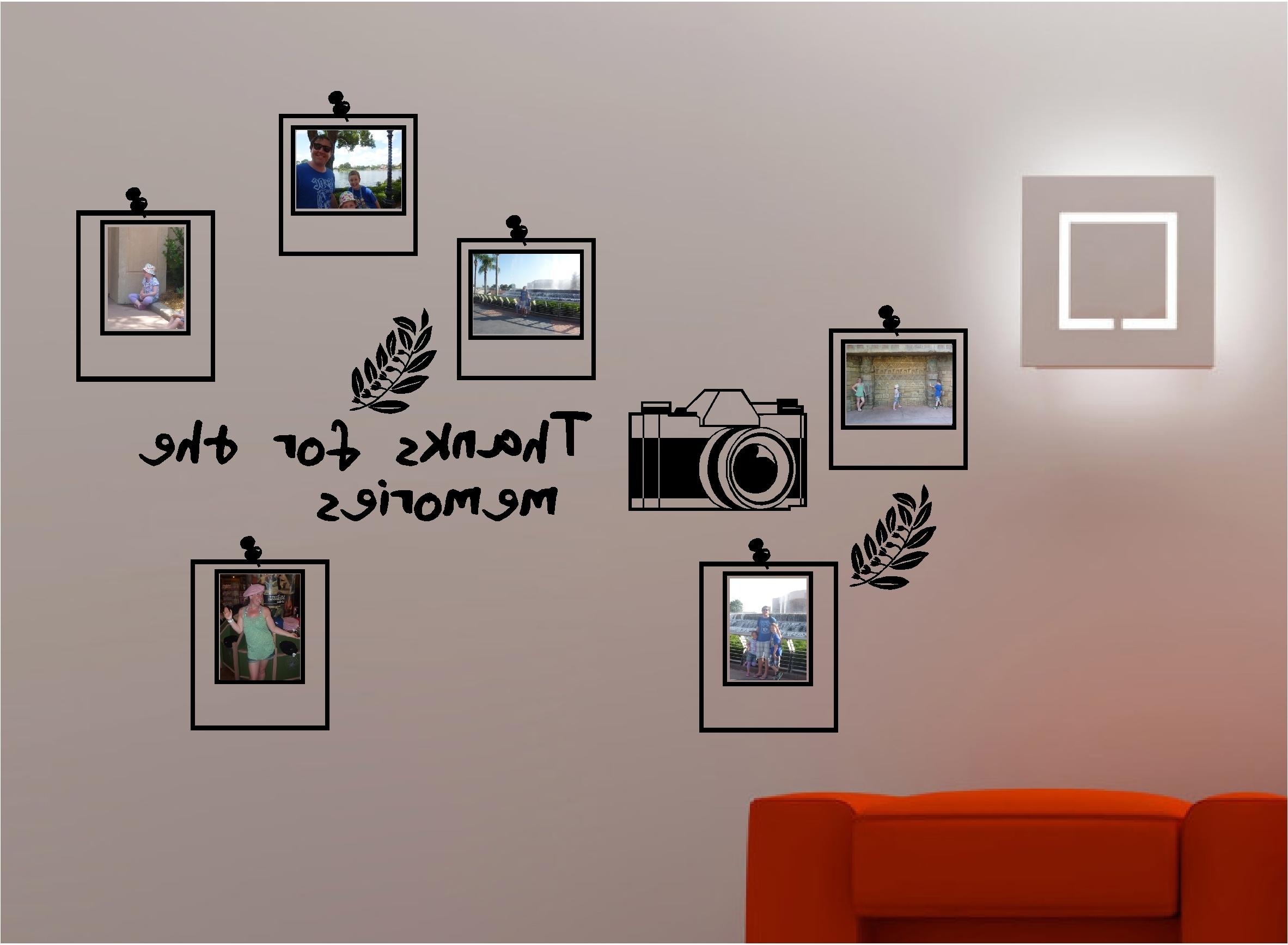 Most Popular Stunning Frame Bedroom Lounge Kitchen Wall Art Sticker Vinyl – Dma Inside Wall Art Frames (View 10 of 15)