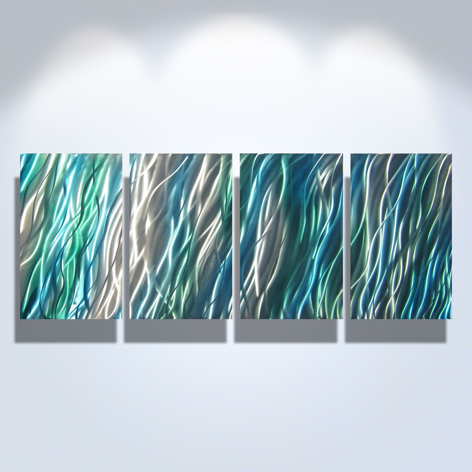 Most Popular Teal Metal Wall Art Pertaining To Amazon  Metal Wall Art Abstract Sculpture Painting Modern Decor On (View 7 of 15)